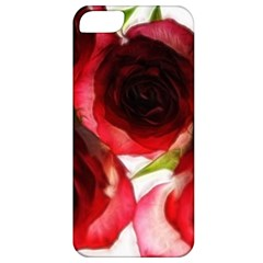 Pink And Red Roses On White Apple Iphone 5 Classic Hardshell Case