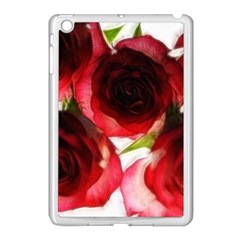 Pink And Red Roses On White Apple Ipad Mini Case (white)