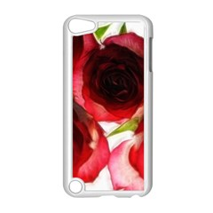 Pink and Red Roses on White Apple iPod Touch 5 Case (White)