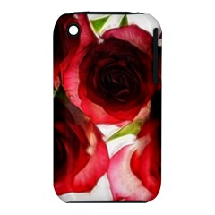 Pink And Red Roses On White Apple Iphone 3g/3gs Hardshell Case (pc+silicone)