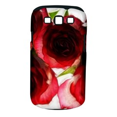 Pink and Red Roses on White Samsung Galaxy S III Classic Hardshell Case (PC+Silicone)