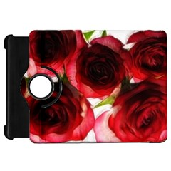 Pink and Red Roses on White Kindle Fire HD 7  (1st Gen) Flip 360 Case