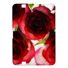 Pink and Red Roses on White Kindle Fire HD 8.9  Hardshell Case