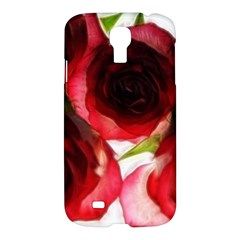 Pink And Red Roses On White Samsung Galaxy S4 I9500/i9505 Hardshell Case