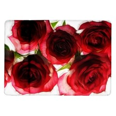Pink And Red Roses On White Samsung Galaxy Tab 10 1  P7500 Flip Case