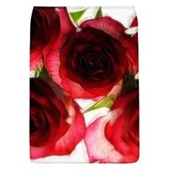 Pink and Red Roses on White Removable Flap Cover (Large)