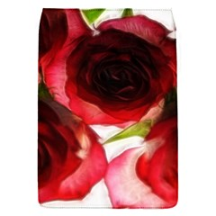 Pink and Red Roses on White Removable Flap Cover (Small)