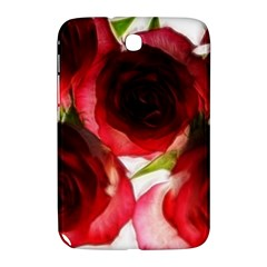 Pink And Red Roses On White Samsung Galaxy Note 8 0 N5100 Hardshell Case