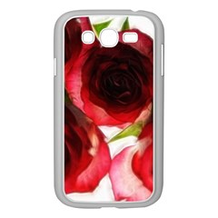 Pink And Red Roses On White Samsung Galaxy Grand Duos I9082 Case (white)