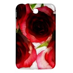 Pink and Red Roses on White Samsung Galaxy Tab 3 (7 ) P3200 Hardshell Case