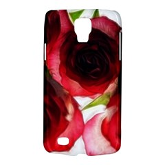 Pink and Red Roses on White Samsung Galaxy S4 Active (I9295) Hardshell Case