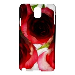 Pink and Red Roses on White Samsung Galaxy Note 3 N9005 Hardshell Case