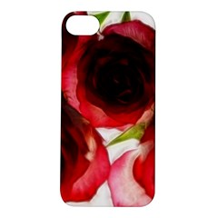 Pink And Red Roses On White Apple Iphone 5s Hardshell Case
