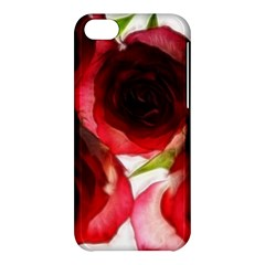 Pink And Red Roses On White Apple Iphone 5c Hardshell Case