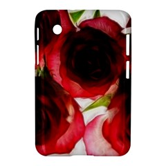 Pink and Red Roses on White Samsung Galaxy Tab 2 (7 ) P3100 Hardshell Case