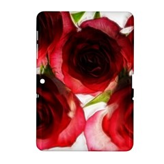 Pink And Red Roses On White Samsung Galaxy Tab 2 (10 1 ) P5100 Hardshell Case
