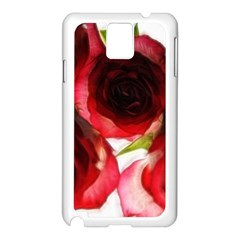 Pink And Red Roses On White Samsung Galaxy Note 3 N9005 Case (white)