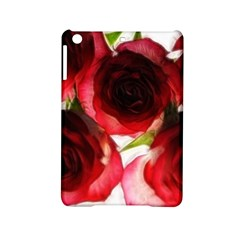 Pink and Red Roses on White Apple iPad Mini 2 Hardshell Case
