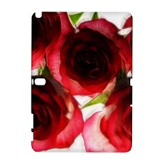 Pink And Red Roses On White Samsung Galaxy Note 10 1 (p600) Hardshell Case