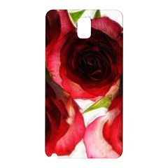 Pink and Red Roses on White Samsung Galaxy Note 3 N9005 Hardshell Back Case