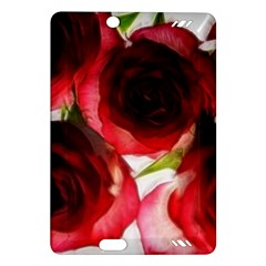 Pink And Red Roses On White Kindle Fire Hd 7  (2nd Gen) Hardshell Case