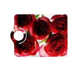Pink and Red Roses on White Kindle Fire HD 7  (2nd Gen) Flip 360 Case