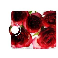 Pink and Red Roses on White Kindle Fire HDX 8.9  Flip 360 Case