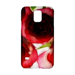 Pink and Red Roses on White Samsung Galaxy S5 Hardshell Case