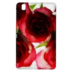 Pink and Red Roses on White Samsung Galaxy Tab Pro 8.4 Hardshell Case