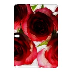 Pink and Red Roses on White Samsung Galaxy Tab Pro 12.2 Hardshell Case