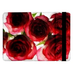 Pink And Red Roses On White Samsung Galaxy Tab Pro 12 2  Flip Case