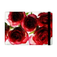Pink and Red Roses on White Apple iPad Mini 2 Flip Case