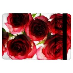 Pink and Red Roses on White Apple iPad Air Flip Case
