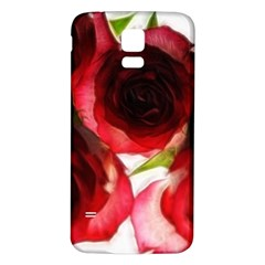 Pink and Red Roses on White Samsung Galaxy S5 Back Case (White)