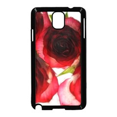 Pink and Red Roses on White Samsung Galaxy Note 3 Neo Hardshell Case (Black)