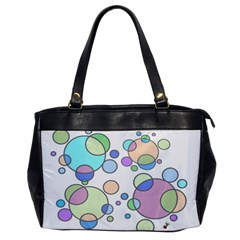Circles   Bright Oversize Office Handbag (one Side)