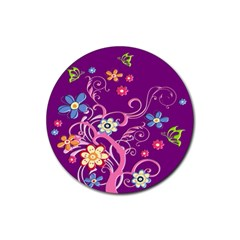 Flowery Flower Drink Coaster (round)