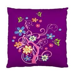 Flowery Flower Cushion Case (Single Sided)