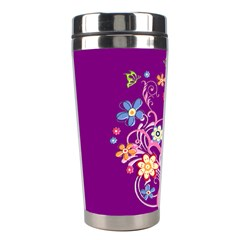 Flowery Flower Stainless Steel Travel Tumbler