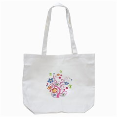 Flowery Flower Tote Bag (White)
