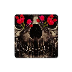 Death and Flowers Magnet (Square)