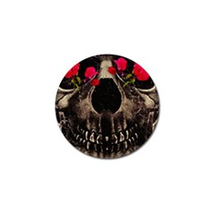 Death And Flowers Golf Ball Marker