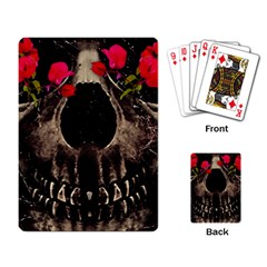 Death and Flowers Playing Cards Single Design