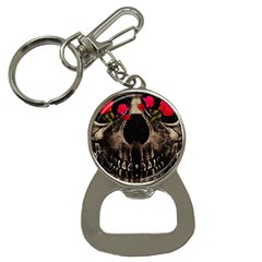 Death and Flowers Bottle Opener Key Chain