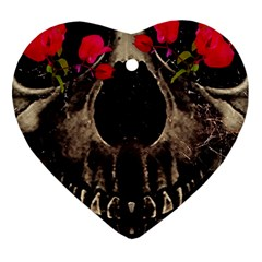 Death And Flowers Heart Ornament (two Sides)