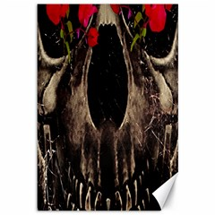 Death and Flowers Canvas 12  x 18  (Unframed)