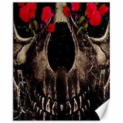 Death and Flowers Canvas 16  x 20  (Unframed)