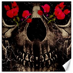 Death And Flowers Canvas 20  X 20  (unframed)