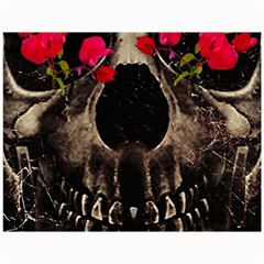 Death and Flowers Canvas 18  x 24  (Unframed)