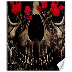 Death and Flowers Canvas 20  x 24  (Unframed)